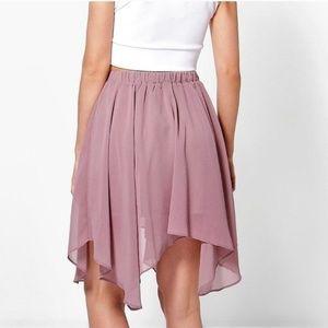 Women's   Boohoo   Chiffon High-Low Mini Skirt